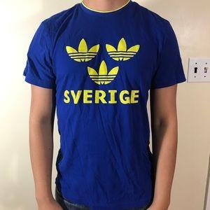 Adidas Swedish soccer shirt